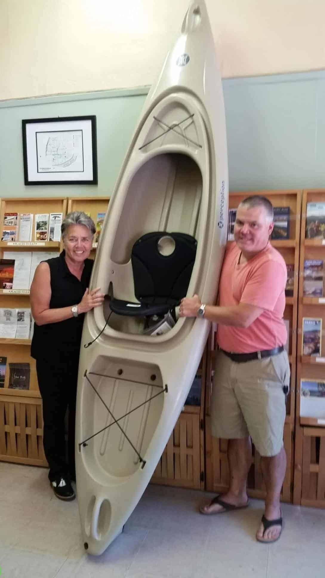 Kayak Winner Brett Gibbs