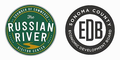 Russian River Chamber of Commerce and Sonoma County Economic Development Board logos